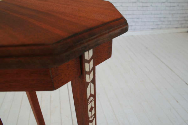 Jardinière stand / occasional table with hand stenciled detail