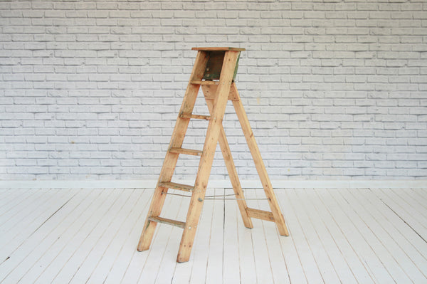 A pair of  pine steps/stepladder