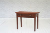A George III mahogany side table with single drawer