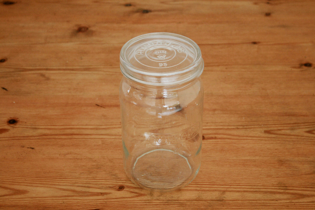 "Vintage French ""Gerrix"" glass storage jar"