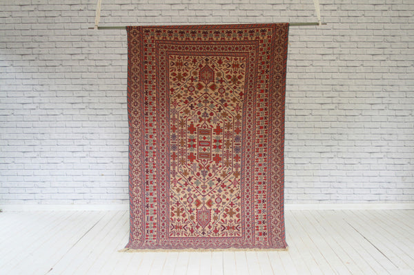 Kelim (Flat Weave) Carpet in Sasstani Design