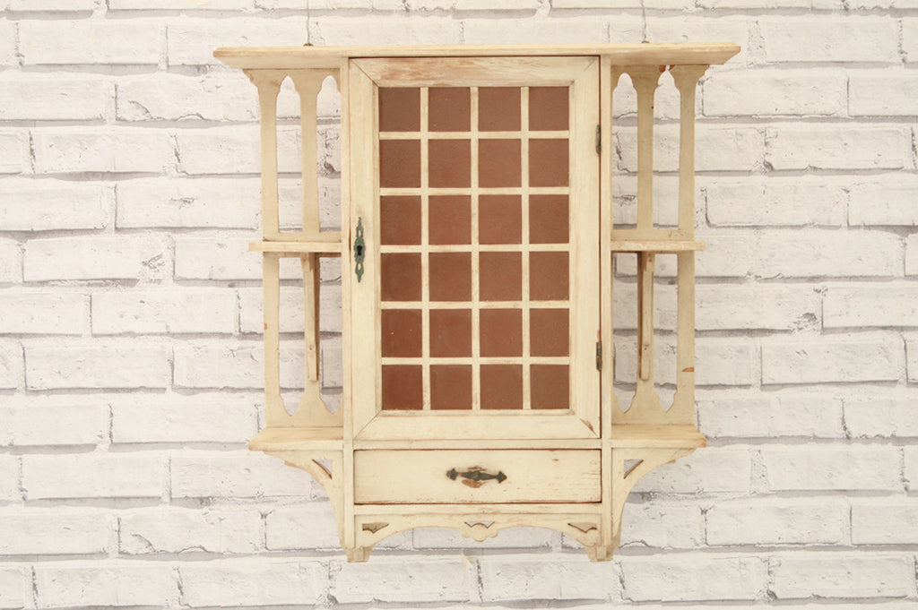 An Arts U0026 Crafts Painted Wall Cabinet