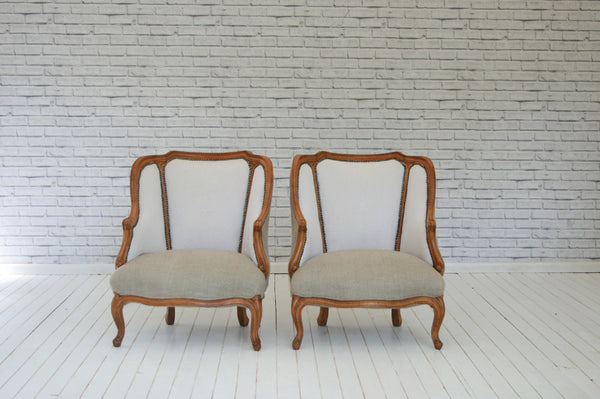 A pair an antique French armchairs