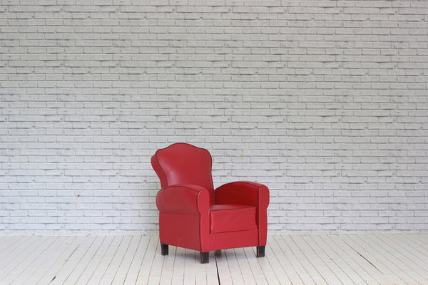 1940/50's red leatherette armchair