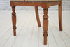 An oak dining / desk or bedroom chair in heavy duty Hungarian sack cloth