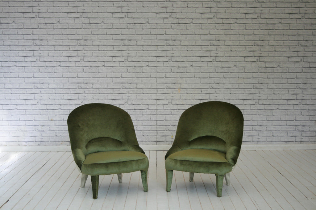 A pair of Victorian fireside chairs/nursing chairs