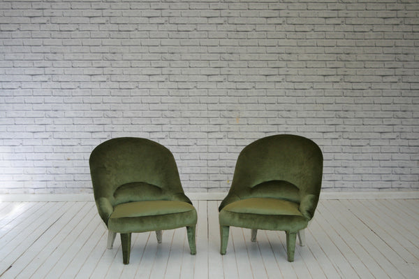 A pair of Victorian fireside chairs/Bedroom chairs