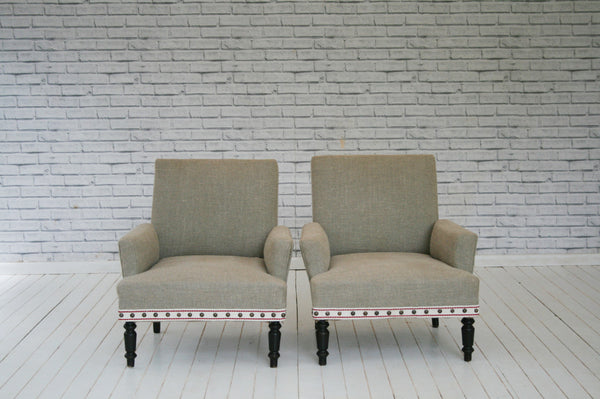 A rare pair of French 1920's armchairs