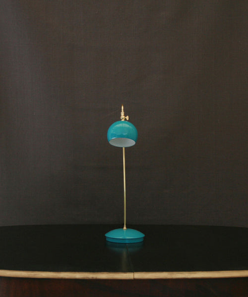 Hand made brass & enamel table lamp