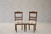 A set of four Victorian dining chairs