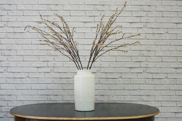 Large white Jar Shaped Vase