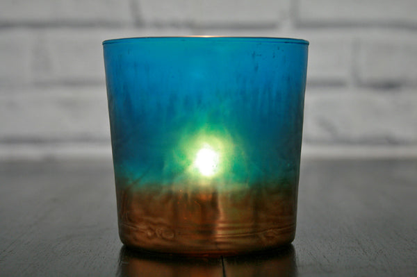 Small Blue and Copper Votive
