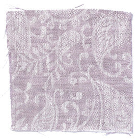 Large Paisley Linen - Rose Taupe