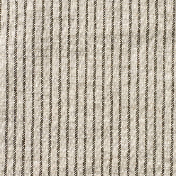 KURA - TICKING STRIPE. CHARCOAL/NATURAL