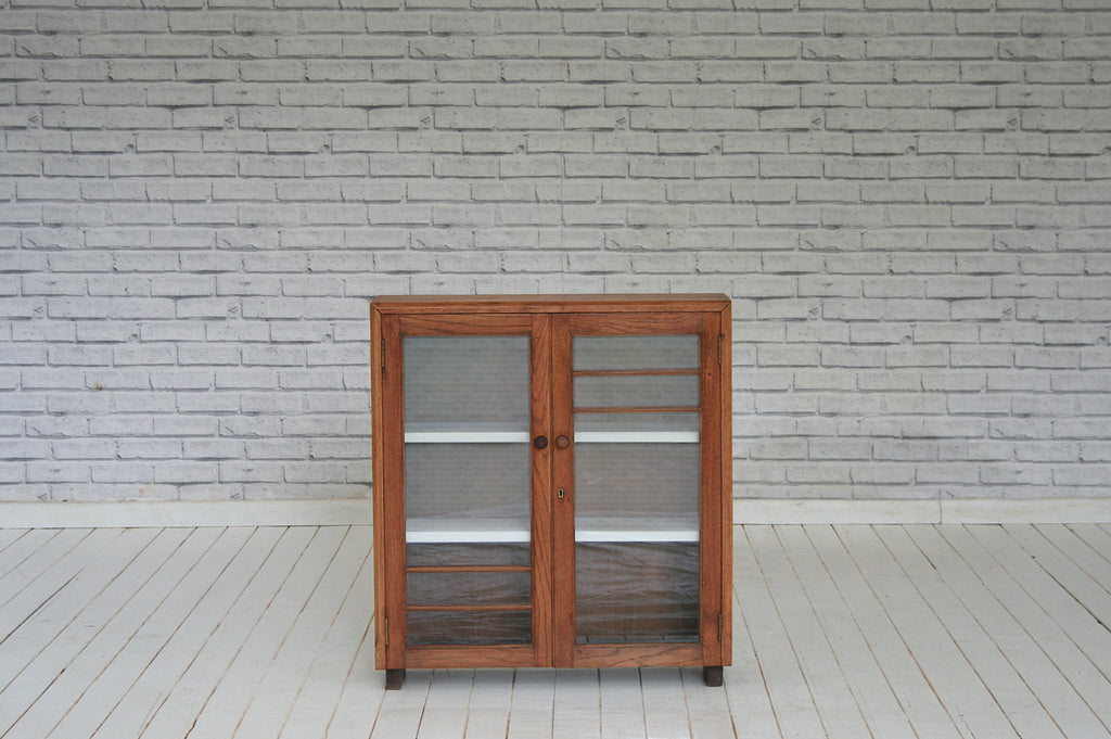 A glazed two door bookcase