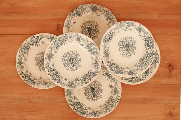 A set of three 1850s French dinner &  soup plates
