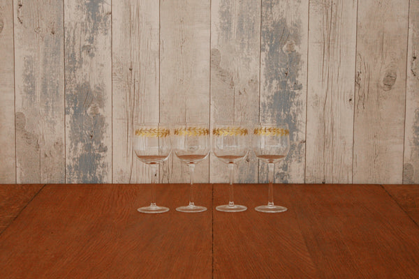 Gold Leaf White Wine Glass