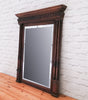 An 18th century French pine mirror