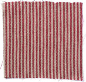 Narrow stripe linen - Crimson/Natural