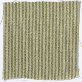 Narrow stripe linen - Fern Green/Natural