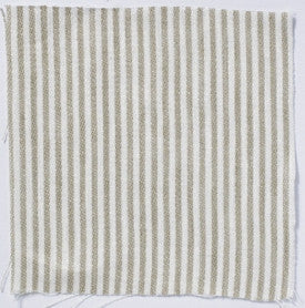 Narrow stripe linen - Natural