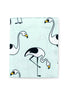 Mint Flamingo fitted sheet