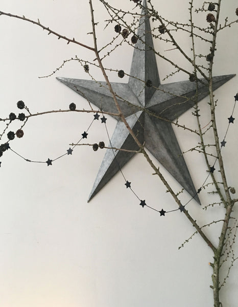 &MEAD Paper Star Garland: Black