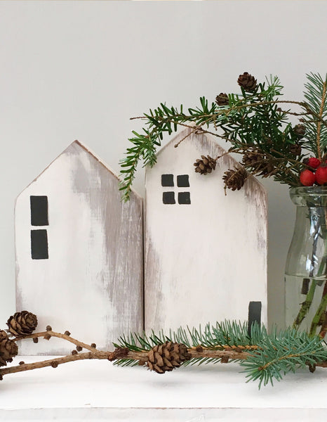 Unique handcrafted homes made from reclaimed wood, dot amongst your festive decorations or keep them out all year, Hygge in your home.