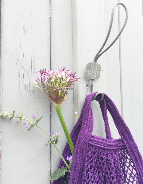 Cotton String Bag - Aubergine