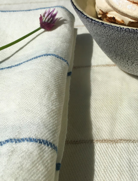 Linen Tablecloth - Linen on White