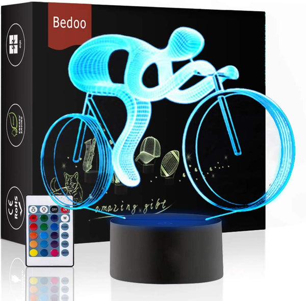 HeXie LED Night Lights 3D Illusion Bedside Table Lamp