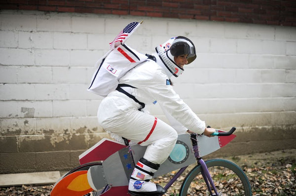 Astronaut costume - with rocket bike
