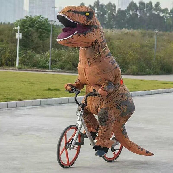Dinosaur on a bike