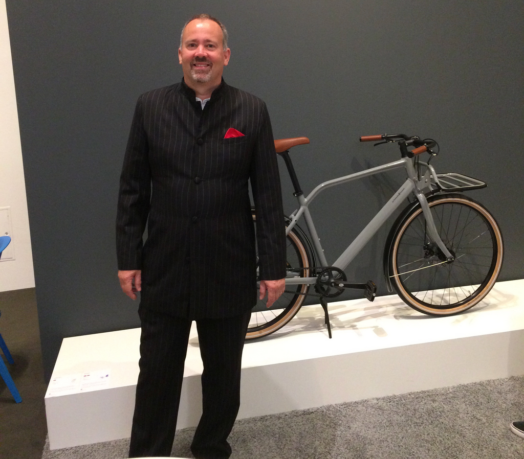 Neil with his absolute favourite brand of bike - Schindelhauer bikes.