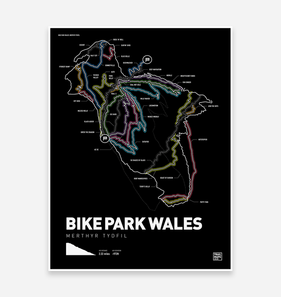 MTB TRAIL ART PRINTS - Bike park Wales