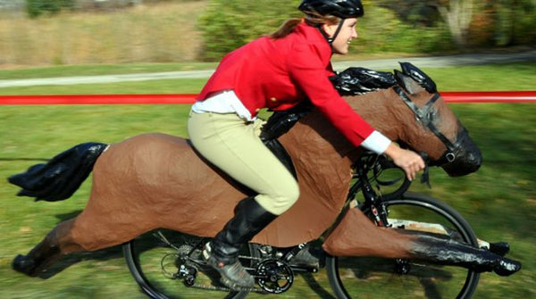 Horse bicycle costume