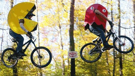Pac-man on a bike - fancy dress