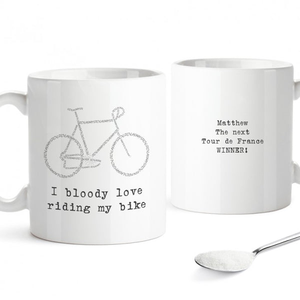 Personalised Mug - Bike Design