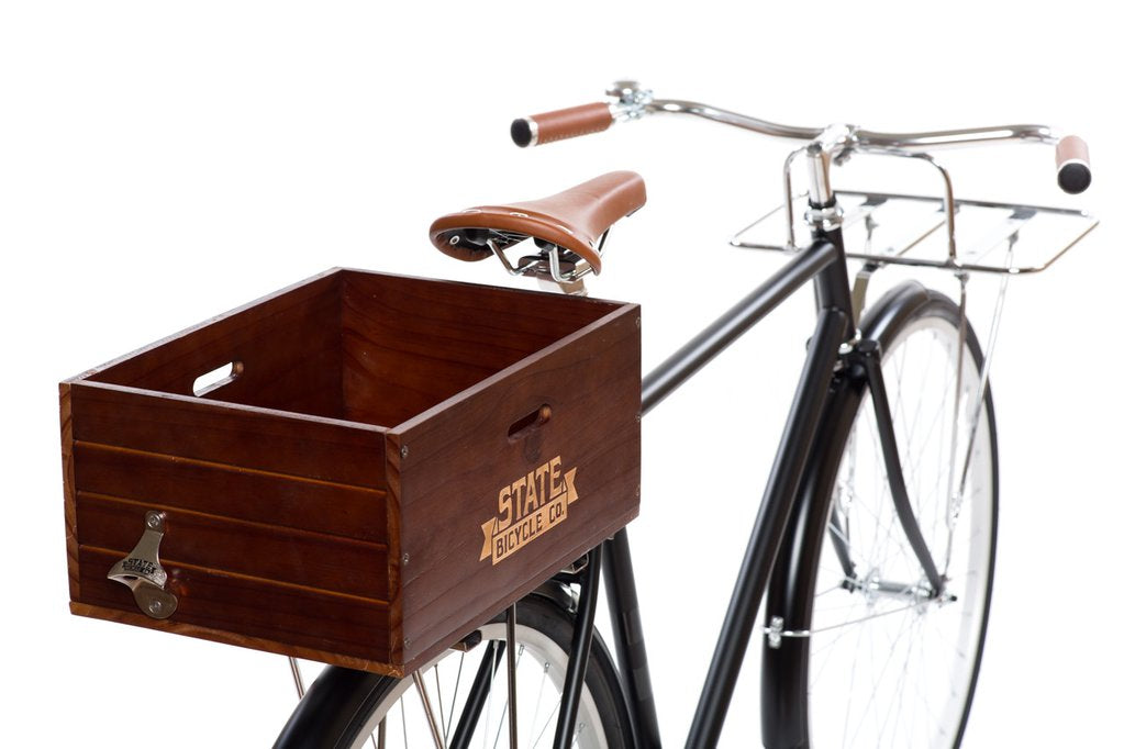 Wooden City Bike Crate - Cool Bike Accessories