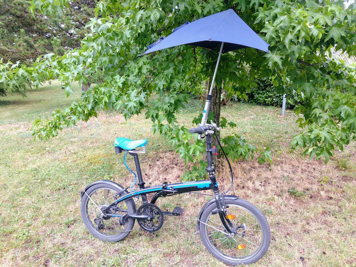 Tern bike with umbrella