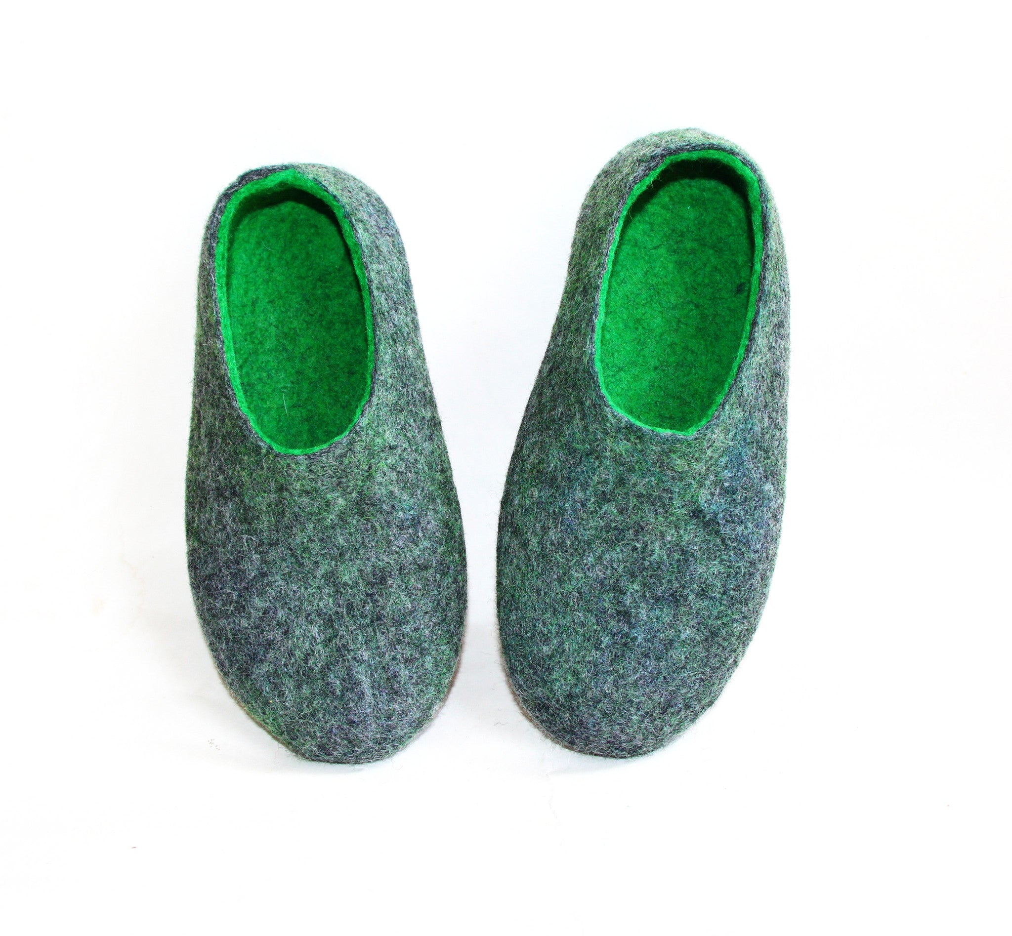 Mens Wool Loafers Green