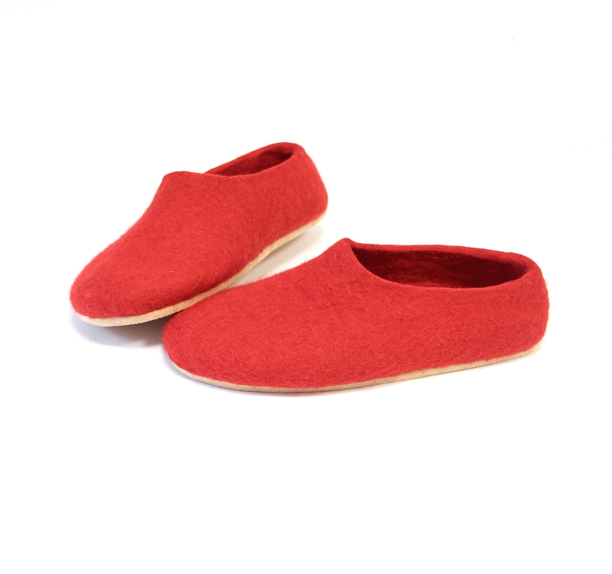 Womens Wool Slippers Red Fiesta