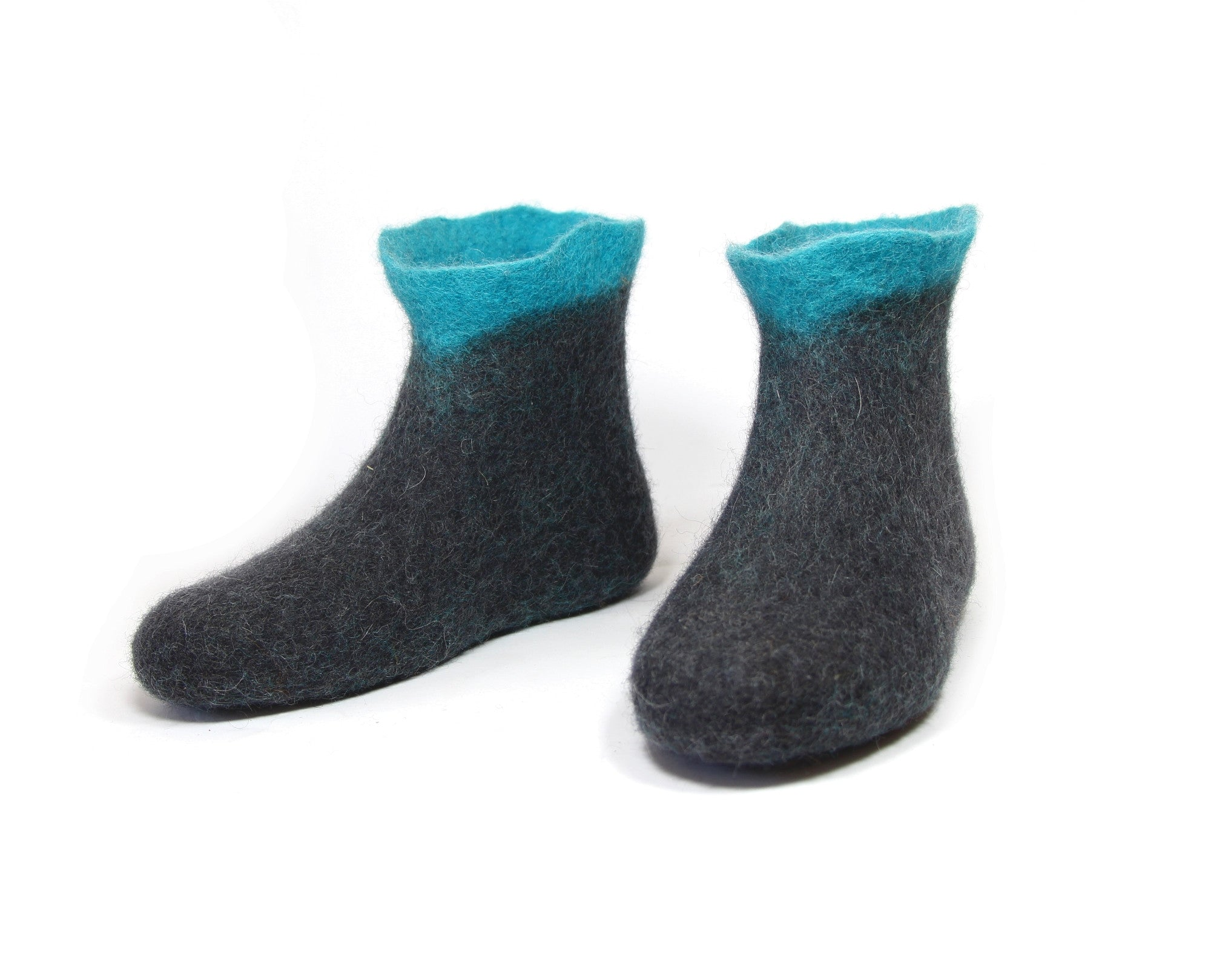 Women's Ankle Wool Boots Turquoise Peak