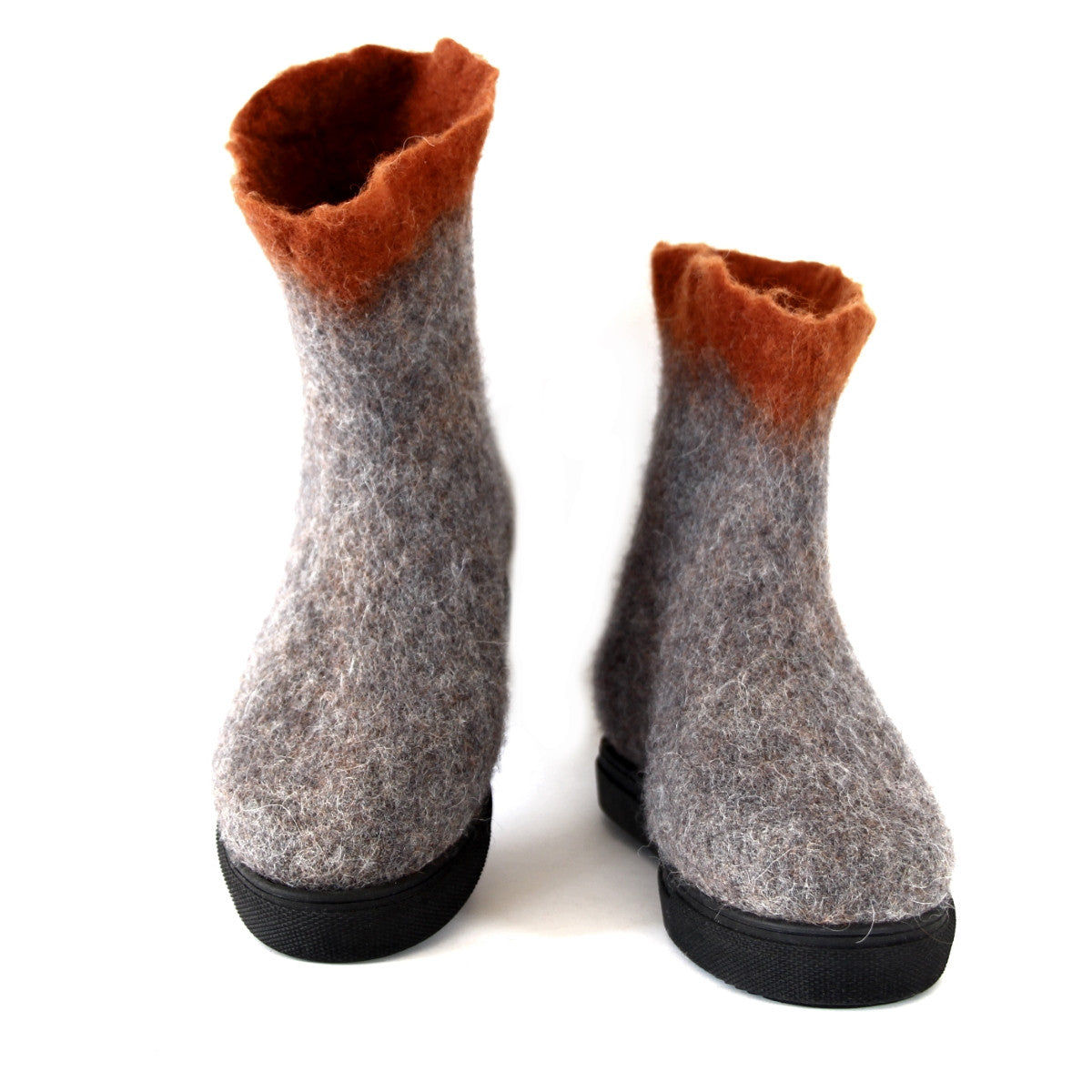 Women's Modern Walking Wool Boots Gray Potter's...