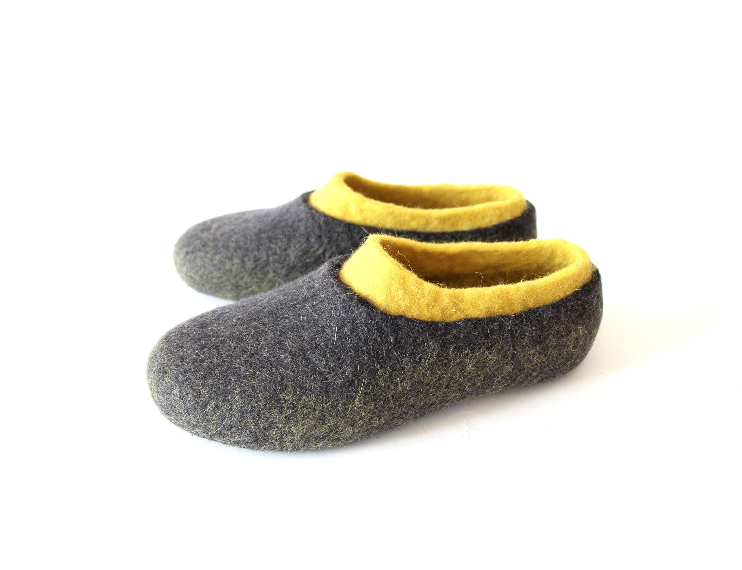 Womens Wool Slippers Color Blocking