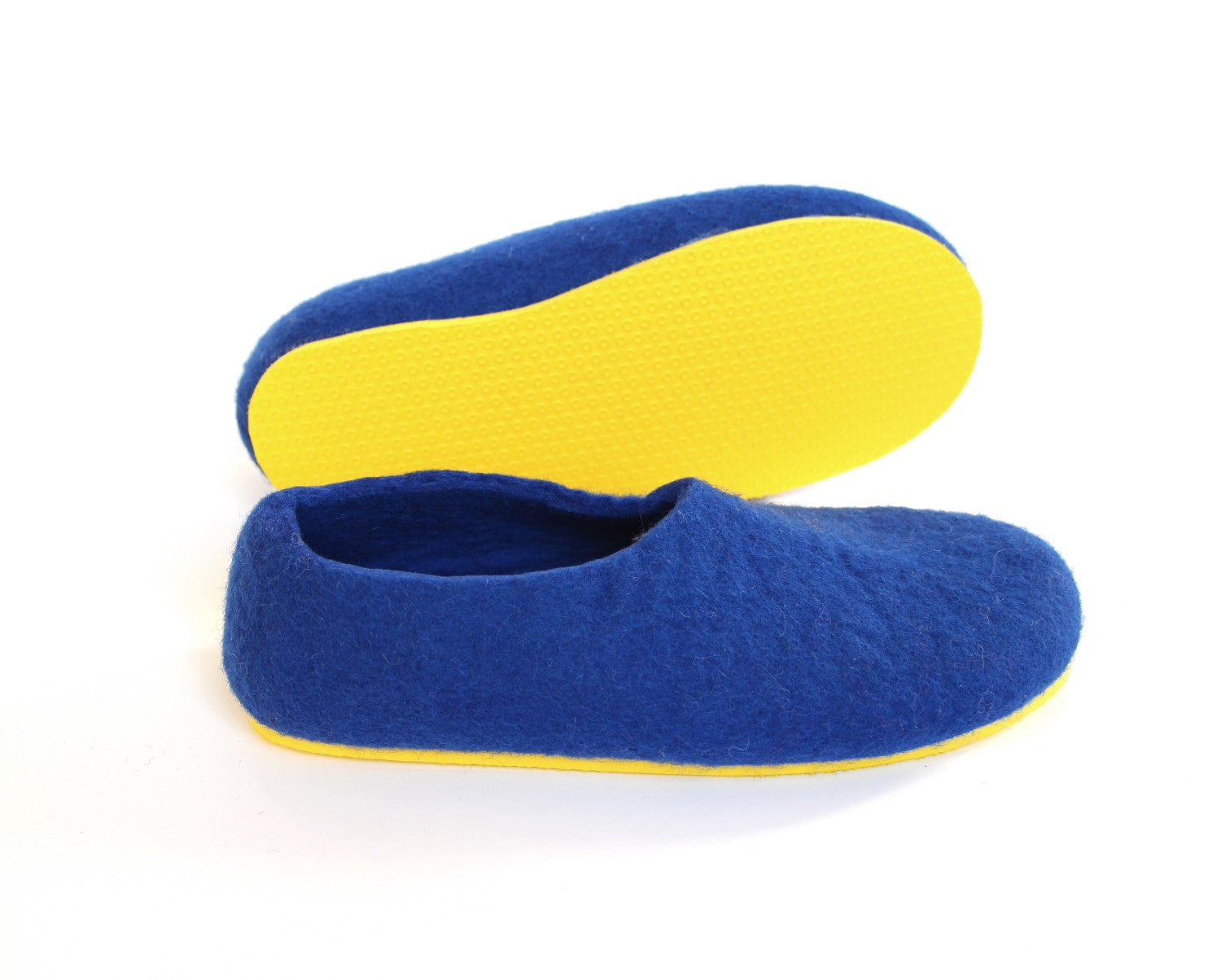 Womens Wool Slippers Snorkel Blue Contrast