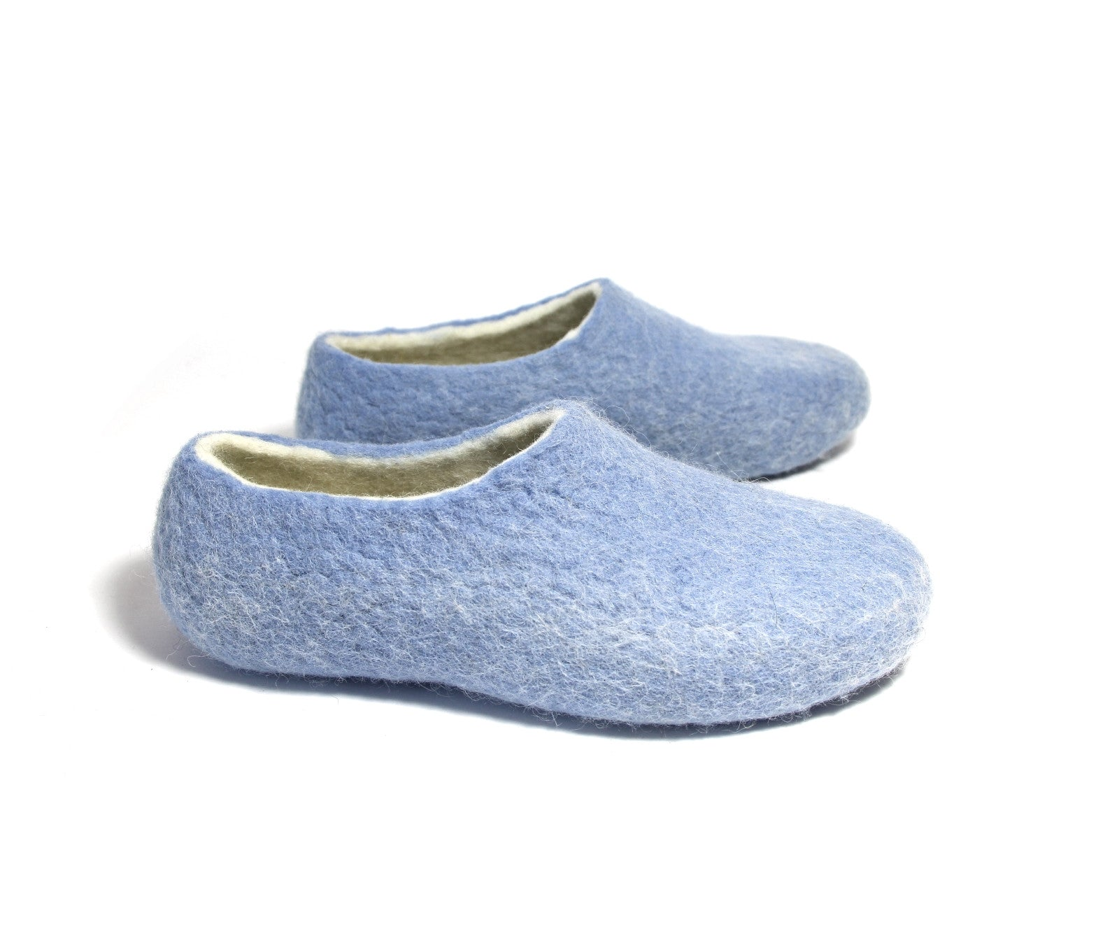 Womens Wool Shoes Pastel Blue White