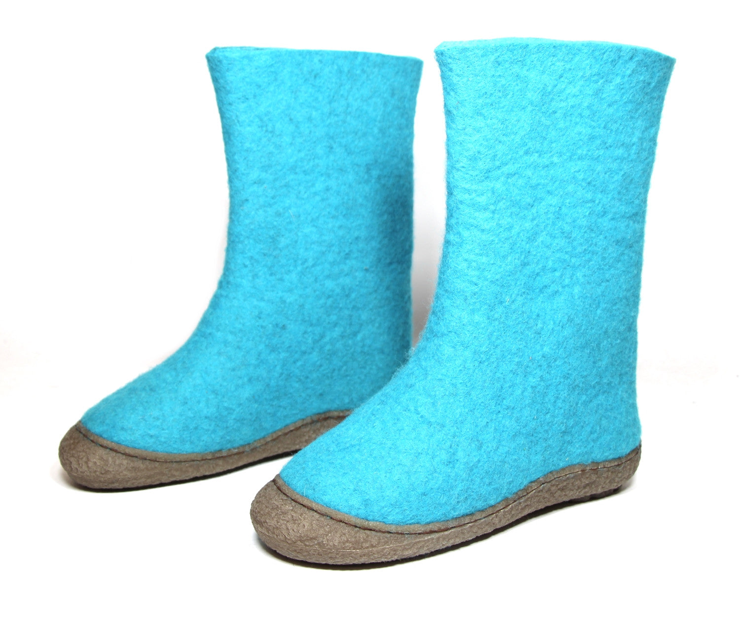 Women's Wool Snow Boots Turquoise