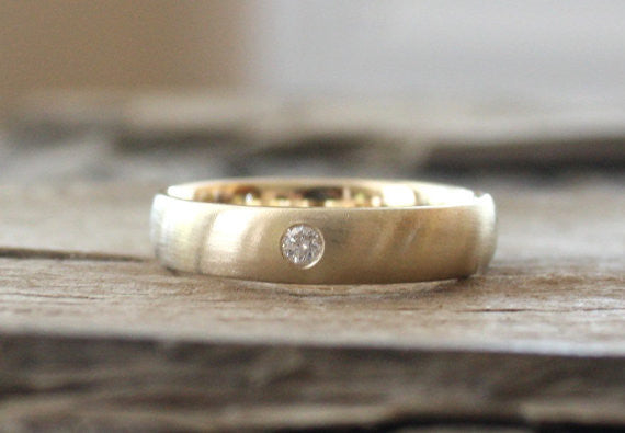 5 mm Diamond Men's Band in 14K Yellow Gold