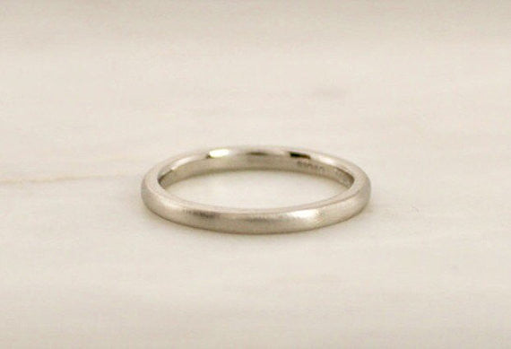Handmade 14K Palladium Ladies Wedding Band